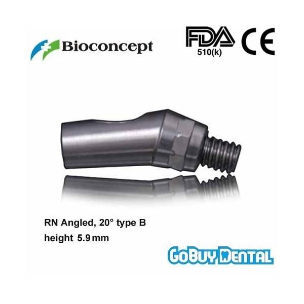Straumann Compatible RN Angled Abutment, 20 type B, height 5.9mm, Short Regular Neck