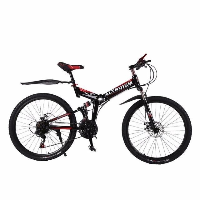 Altruism X6 24 Скорость 26 Дюймов Стали Горный Велосипед Дисковый Тормоз Дорожный Велосипед Гоночный Велосипед Велосипеды Подвески