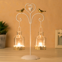 Hanging Candle Holders Candlestick Bird Cage Decor Moroccan Iron Candle Stand Table Candelabra Chandeliers Home Decor 50A0038