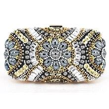 Schwarz abend-handtasche frauen handtasche hand perlen Dame Party geldbörse Hochzeit braut Diamant perle Prom abendessen tasche bankett taschen 12
