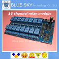 5pcs/lot 5v/12v RF4 16 Channel Relay Module Anti-Interference Board for Arduino PIC ARM DSP PLC With Optocoupler Protection