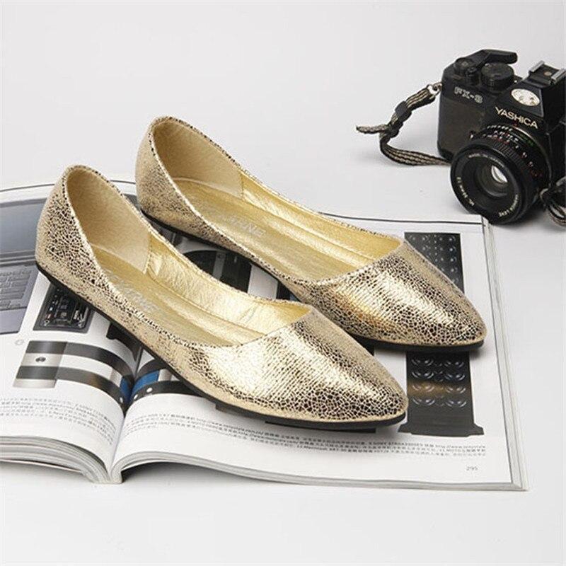 Or argent Sur 41 Noir Taille Femmes Grande Glissent Été Nouveau Cuir Designer Argent marron Beyarne or Printemps Solide Casual Chaussures Dames Pu Noir 35 Mocassins wAqSZR7xZ