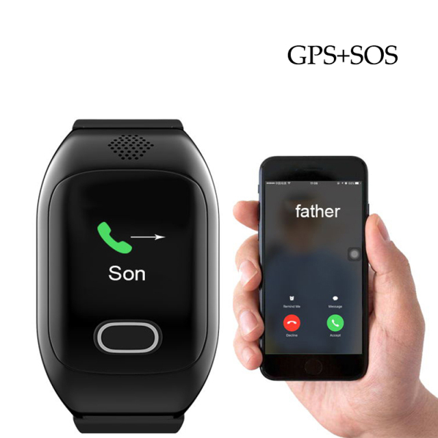 IP67 Waterproof Smart Watch GPS Wristwatch Support SIM Card Heart Rate Blood Pressure SOS Emergency Button For elderly Children
