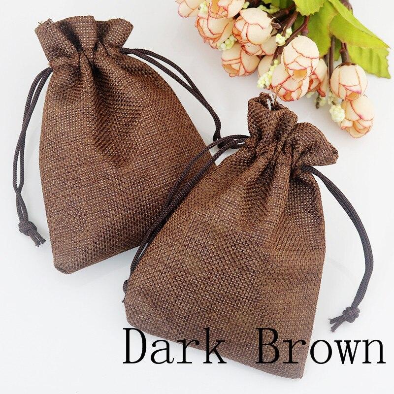 Alta calidad 15x20 cm 10 unids lino bolsa de yute para el coffeebean  accesorios Navidad regalo joyería embalaje bolsa bolso al por mayor 352a4eb6c30d