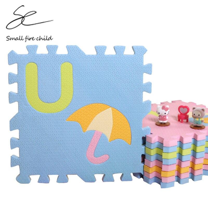 30*30*1.4 cm épaississement EVA dessin animé couleurs sombres et claires bébé ramper plancher tapis de jeu jouet alphabet anglais puzzle