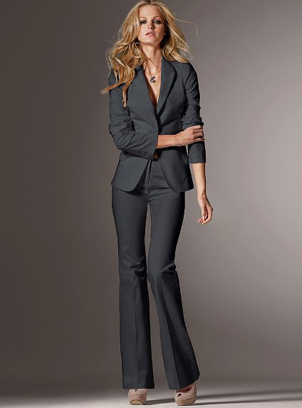 Dark Grey Suit Womens | My Dress Tip