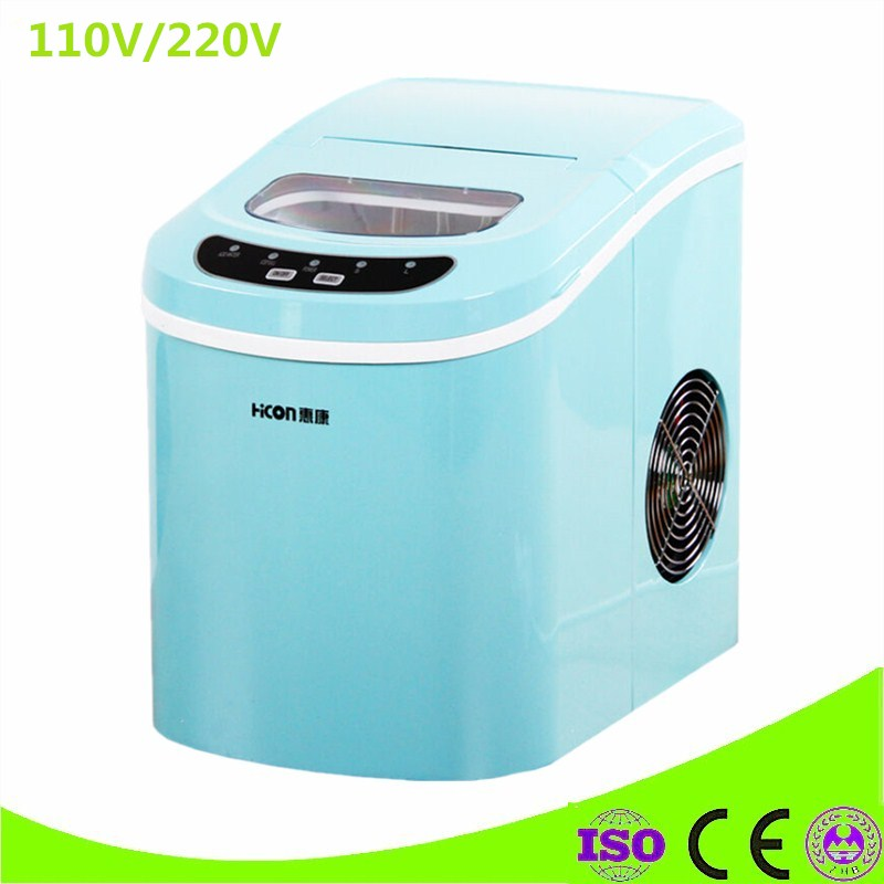 Mini 220V 95W 15KG Electric Commercial Countertop Bullet Ice Maker Machine Milk Tea Shop edtid new high quality small commercial ice machine household ice machine tea milk shop