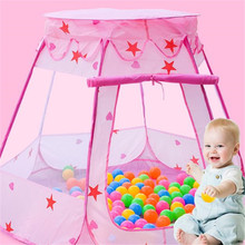 Creative Kids Ocean Ball Pit Pool Toys Outdoor and Indoor Baby Toy Tents Baby Girls Fairy House Play Hut Tent Princess Play Tent cheap LAIMALA Polyester Safe Use 5-7 Years 13-24 Months 2-4 Years 0-12 Months GH799585 Foldable pink blue Children s tent toy
