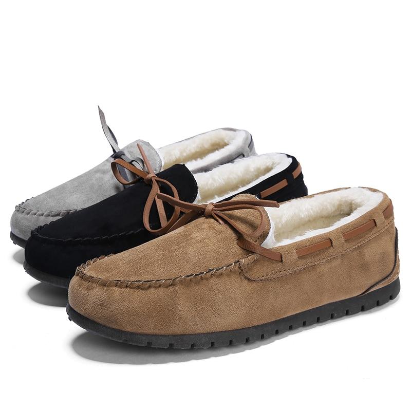 Logisch Lefoche Frauen Winter Paar Baumwolle Peas Schuhe Plus Baumwolle Spitze-up Rutsch Feste Beiläufige Schuhe