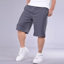 2017 New Fahion mens Cotton Shorts Beach Solid Baggy Loose Short Men Elastic Shorts Cotton Casual Plus Size Shorts for men 12067