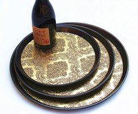 Tray Plastics Round Plate Tea Tray Food Tray Rooms Disk Restaurant Tray Fruit Plate 30cm In