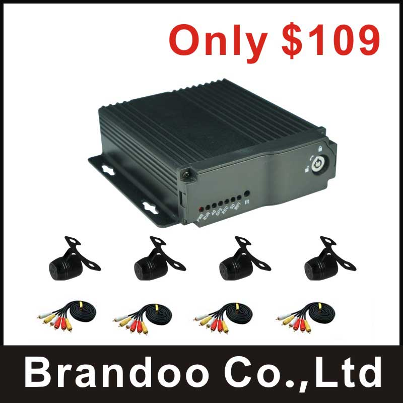 New arrival 4 channel CAR DVR kit, used for taxi, bus, truck, private cars