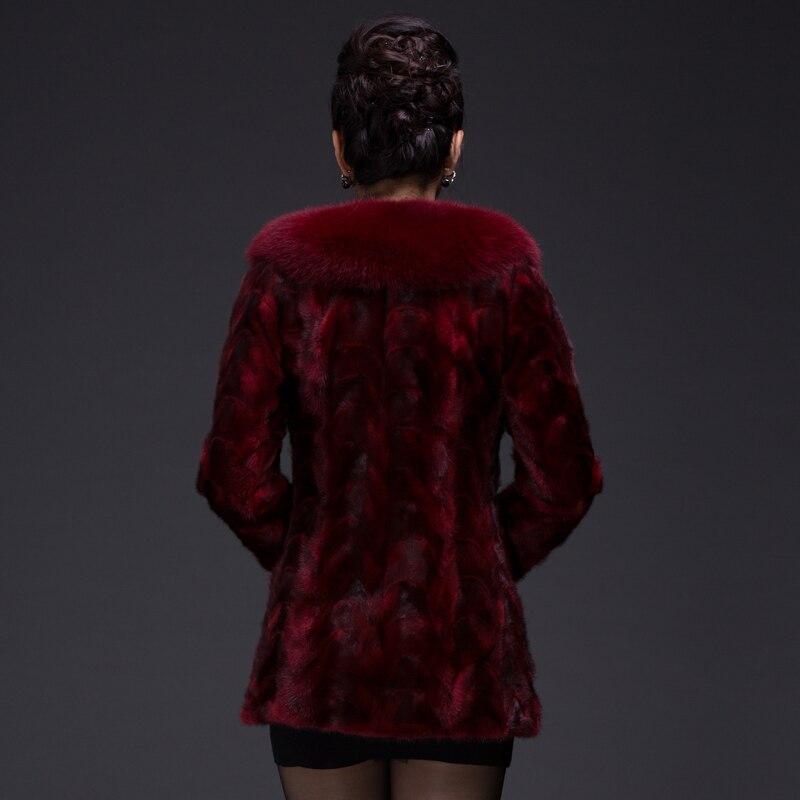 Nouvelles Noble Manteaux Hiver De Col Fq1103 marron Femmes Fourrure Plus La Taille Gratuite Veste Vison Rouge Renard ardoisé Manteau Mince Livraison qBxEw8zt8