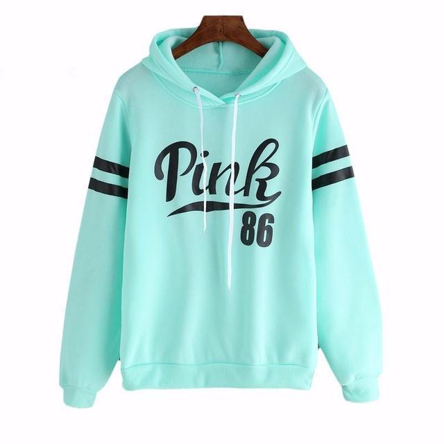 Moletom Feminino Sweatshirts Kpop Women Femme Marque Winter Pink Printing  Hooded Easy Leisure Fleece Hoodies 759e718bfc1