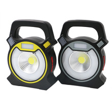 COB LED USB Rechargeable COB Work Light Work Lamp Portable Camping Lanterns 4-Modes Mobile Power Bank Use LED Lamp +USB Cable