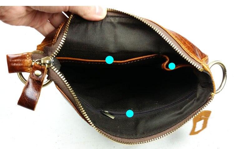 Bolso de hombre de cuero genuino de nobuck bolso casual de hombre - Bolsos - foto 4
