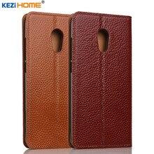 Meizu Pro 6 Plus kezihome личи Натуральная кожа флип Стенд кожаный чехол Капа для Meizu Pro6 плюс телефон случаях Coque