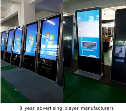 2016 android tablet shopping mall advertising touch screen kiosk CCTV Monitor Display Screen image