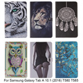 New animal Cartoon Case For Samsung Galaxy Tab A 10.1 (2016) T580 T585 Original PU Leather Tablet Stand Cases With Card Slot