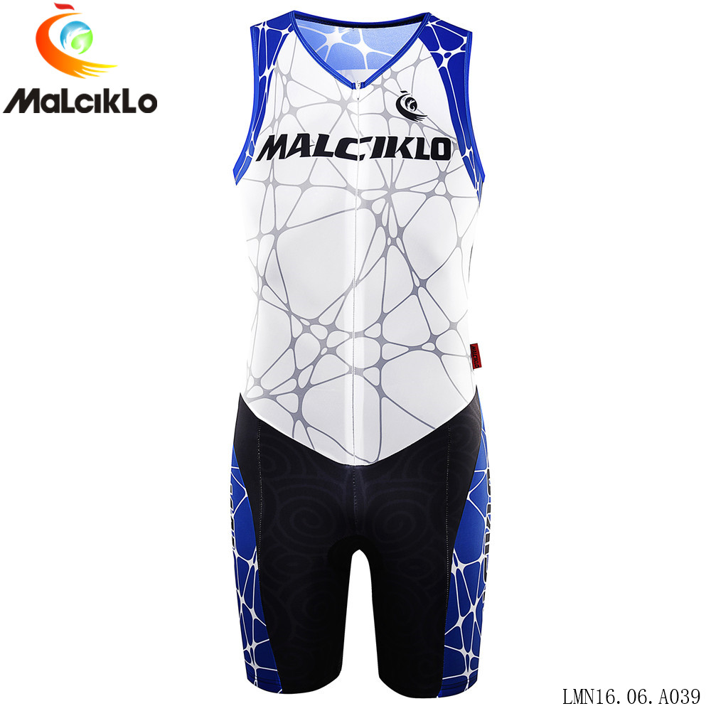 ФОТО MALCIKLO Men Bike Riding Triathlon Simple Style Cycling Breathable Quick Dry Sleeveless Short Sportswear Outdoor New Arrival