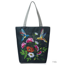 hot deal buy wome new canvas totes handbag brand lady animal floral print totes hobos national style casual leisure handbag totes