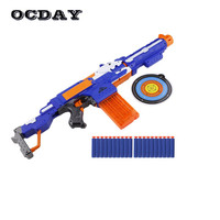 OCDAY Soft Bullet Toy Gun Electric Fire Sniper Rifle Shooting Sucker Dart Submachine Toy Guns Detachable