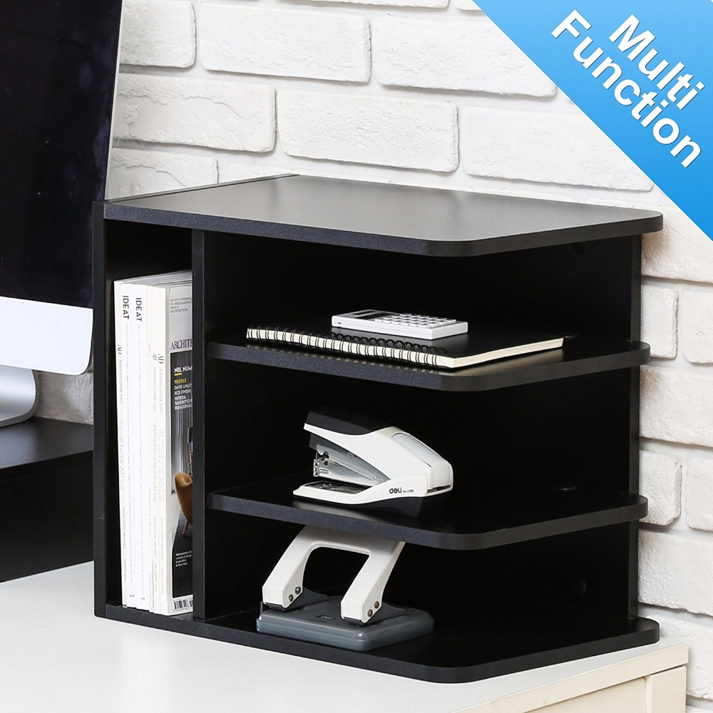 купить Fitueyes Desktop File Organizer Compartments Office Supply Storage Holder Black 3 Vertical/ 1 Horizontal Sections по цене 2879.69 рублей