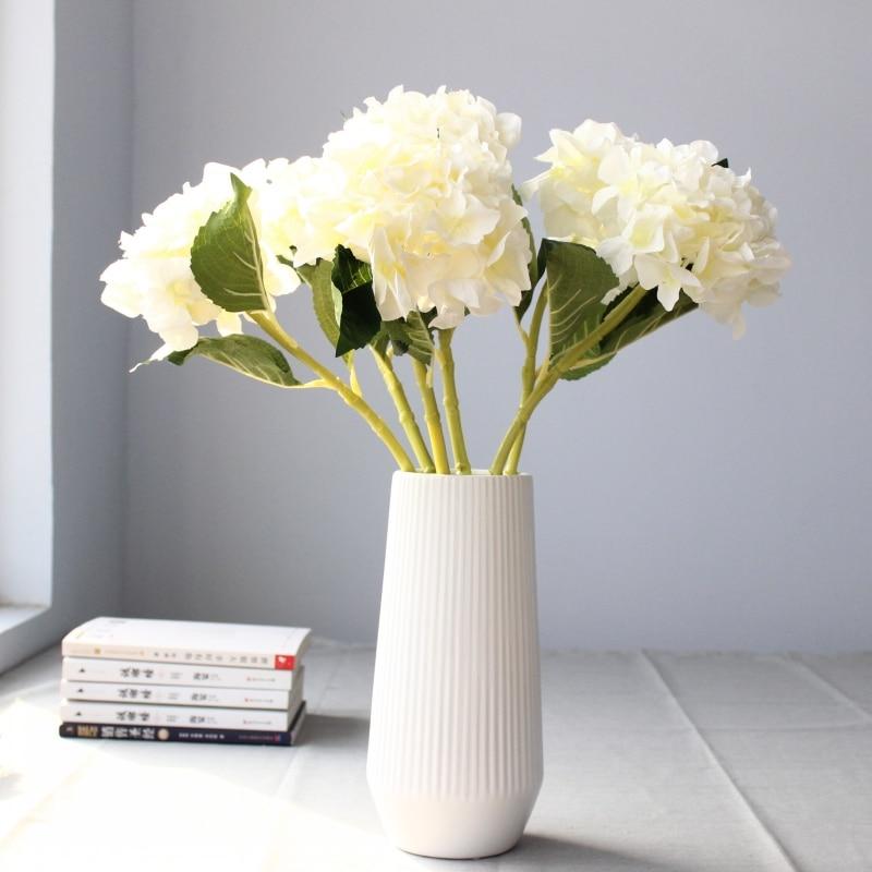 3PCS lepo hortenzija umetno cvetje svilene rože domače dekoracije - Prazniki in zabave - Fotografija 2