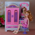 New fantasy Dresser Wardrobe suits with lights play set 30cm doll accessories for barbie doll girls play house toys birthday gif