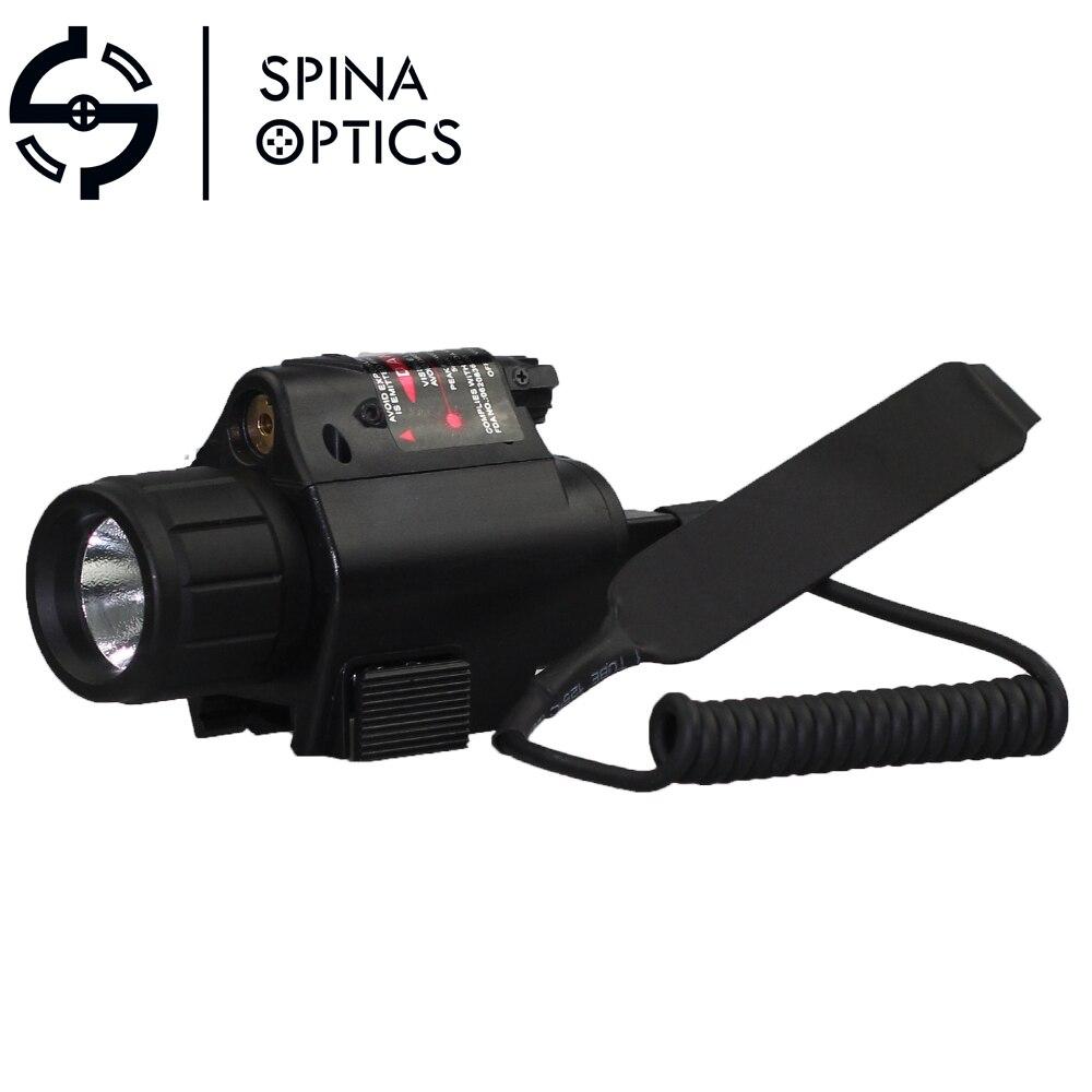SPINA OPTIQUE Lumière Laser En Plein Air LED 2 dans 1 Tactique Combo Pour Tir pistolet Glock lampe de Poche LIGHTD et Rouge Laser vue M6
