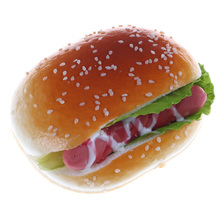 Cute Hamburger Cake Slow Rising Squeeze Decompression Toys Stress Reliever Toys Smooshy Mushy Toys
