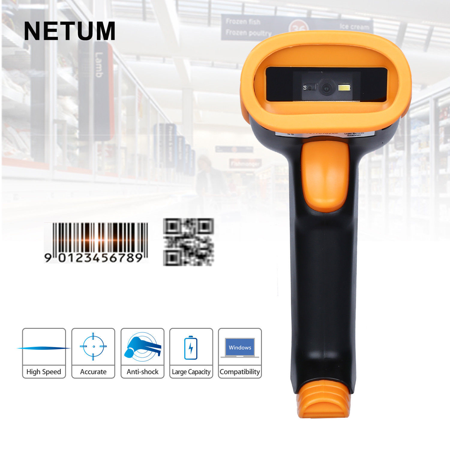 NETUM NT-S5 Handheld 2D Barcode Scanner QR Bar Code Reader USB Scaning for Mobile Payment Computer Screen supermarket handheld 2dcode scanner bar codereader qr code reader usb bar code scanner mobile payment