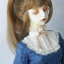 JD289 1/3 21-23 синтетические мохер BJD парики SD высокой один хвостик парик с полной челкой Нобелевской леди кукла волос