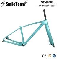 SmileTeam 29er T1000 Full Carbon Mountain Bike Frame Fork 142 12mm Thru Axle Carbon MTB Bicycle
