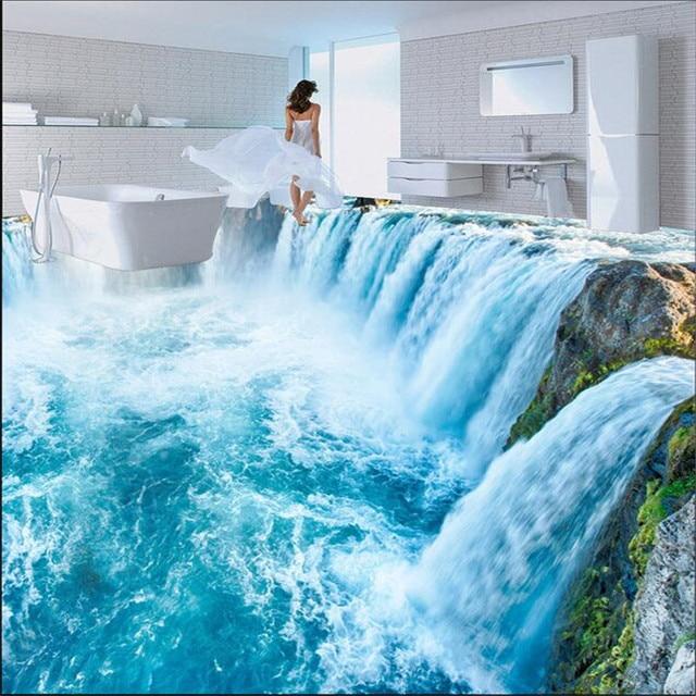 Beibehang Bathroom Custom Papel De Parede Floor Mural Wall