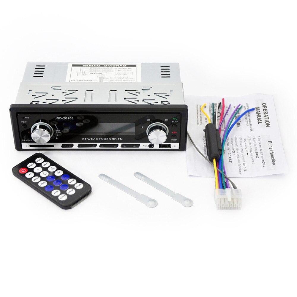 JSD-20158 Car Single DIN Audio Stereo SD MP3 Player Radio Receiver Bluetooth  Drop Shipping August 16 j muir watt eglr 1991