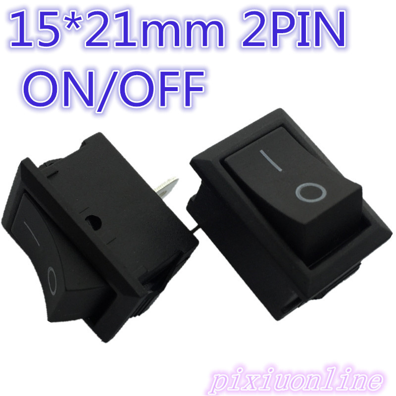 High Quality G133Y 10pcs 15*21mm 2PIN SPST ON/OFF Boat Rocker Switch 6A/250V 10A/125V  Hot Sale 2017 Sell Loss 5pcs black mini round 3 pin spdt on off rocker switch snap in s018y high quality