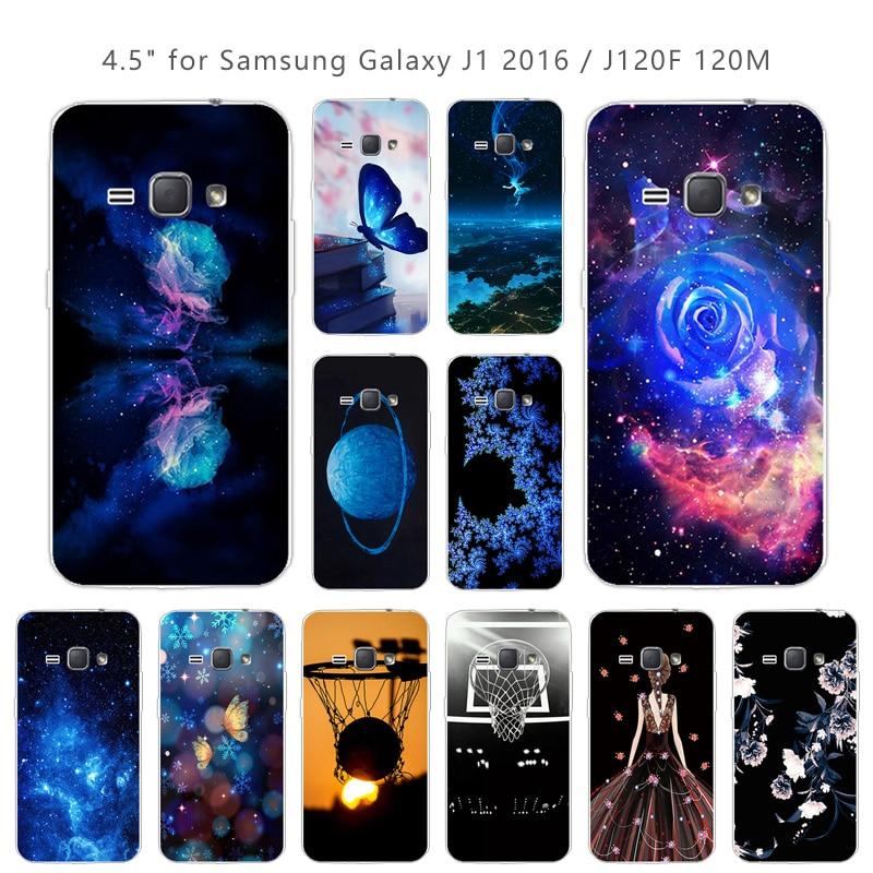 For Samsung Galaxy J1 2016 J120 J120F Soft Silicone Fundas Blue Coque For Samsung J12016 J 1 2016 J 120 J120 F Phone Cases