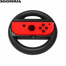 SOONHUA Joy-Con Steering Wheel Handle for Nintendo Nintend Switch NS Controller Wheel Grip Racing Wheel Handle Light Version