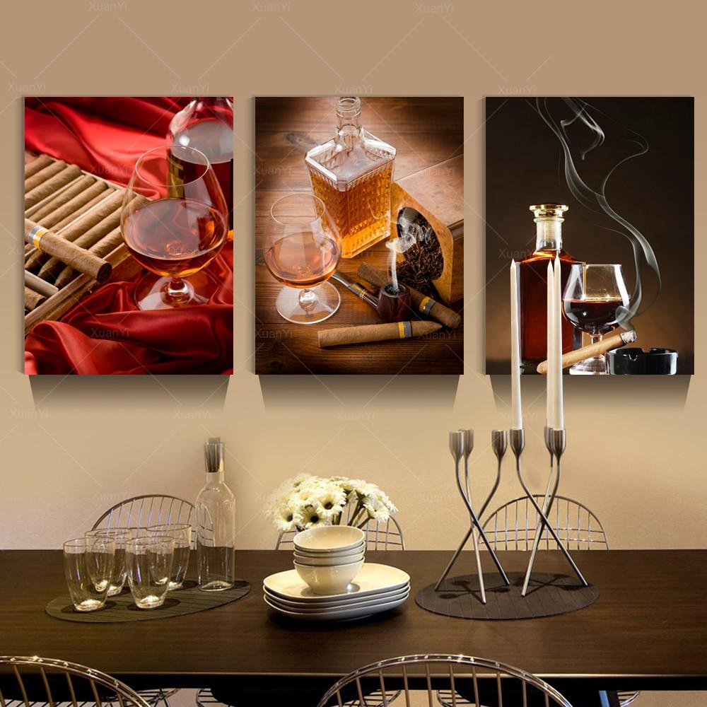 aliexpress com buy 3 panel modern printed jackie wine cigar