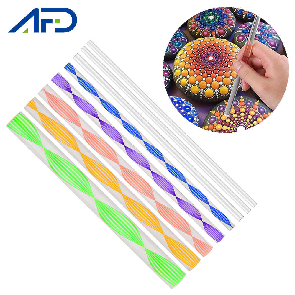 80/40pcs Mandala Dot Painting Tool Set 15mm 12mm 10mm 8mm 6mm 5mm 4mm 3mm Acrylic Rods Sticks DIY Dotting Tools Dropshipping