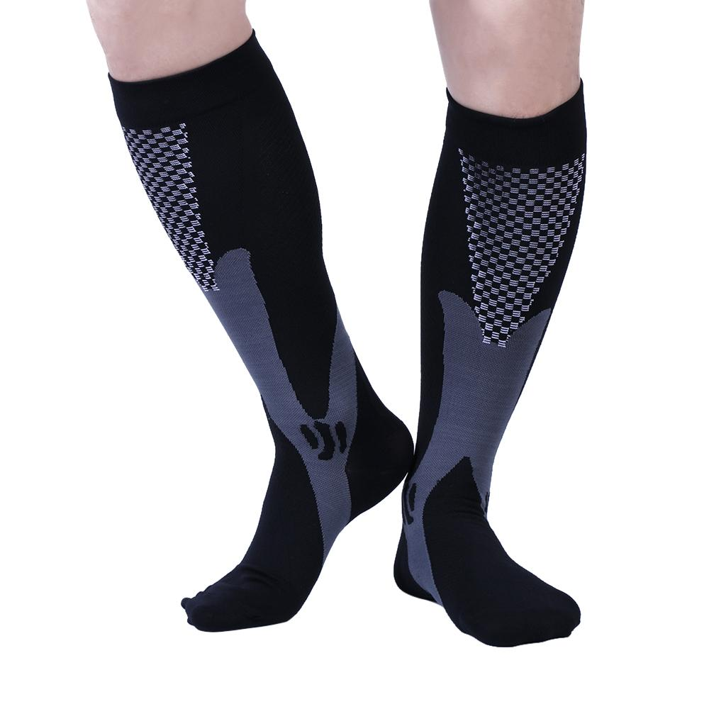 Men's Socks 3 Colors Mens Socks Compression Socks Knee Anti-fatigue Male Leg Slimming Stockings