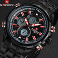 NAVIFORCE men watches fashion casual brand men dual display watches digital analog LED Electronic quartz wristwatches 3ATM clock