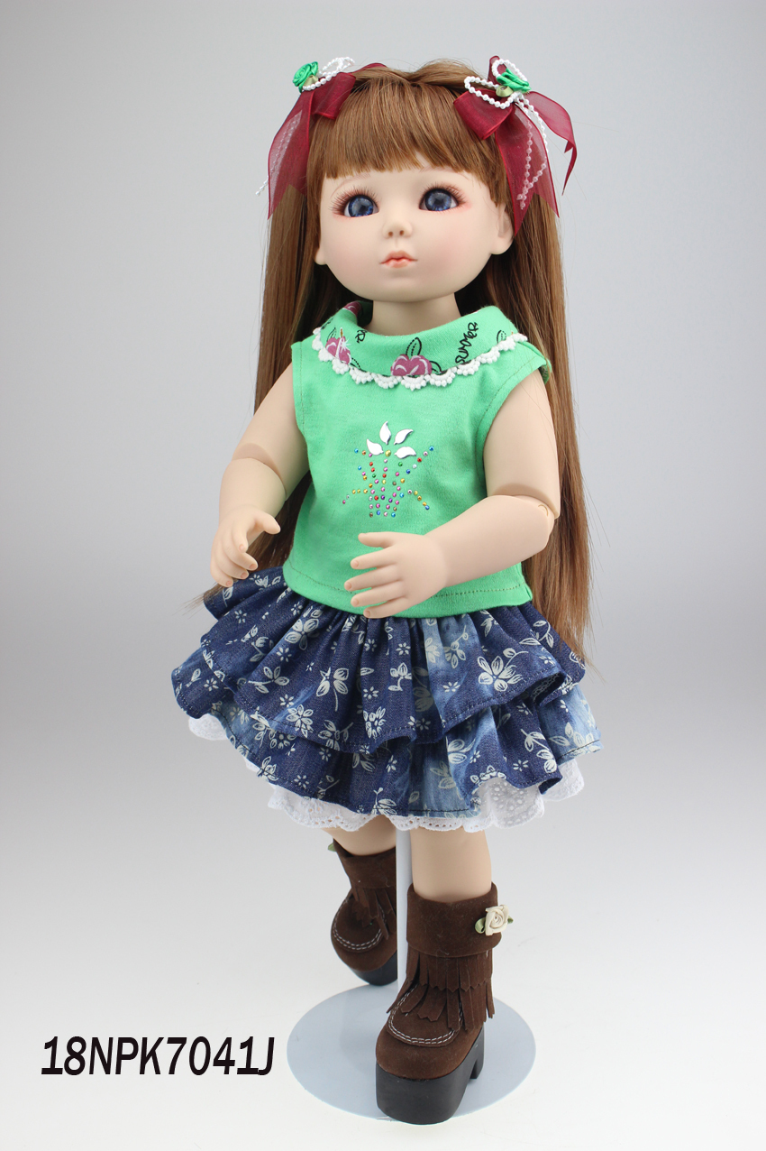 hot-selling beautiful SD/BJD doll 18inch top quality handmade doll for children very beautiful doll long wig hair doll hot selling present for children