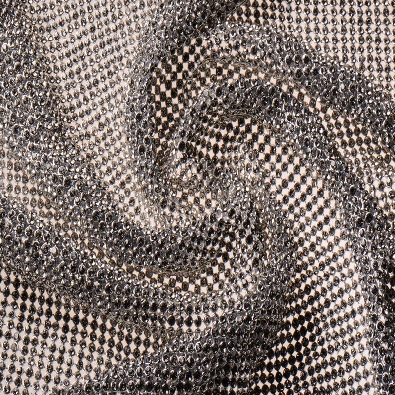 Full Rhinestone Golden & Silver Metal Mesh Fabric Metallic cloth Metal Sequin Sequined Fabric Curtain 40x45cm home decoration