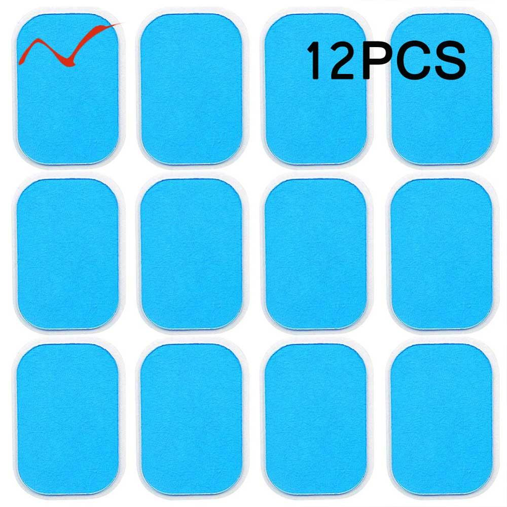 12Pcs Gel Pads For EMS Abdominal ABS Trainer Weight Loss Hip Muscle Stimulator Exerciser Replacement Massager Gel Patch