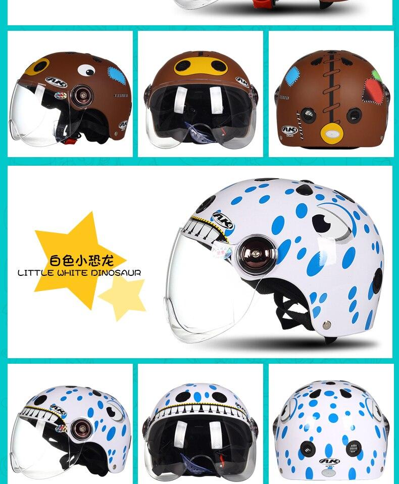 Enfants de 2 /à 13 Ans Casque de v/élo Portable Enfants Casque de Dessin anim/é /équipement de Protection Sportive 5 M