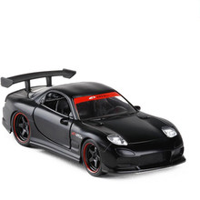 1/32 Scale Simulation Mazda RX7 Sports Car Alloy Die-casting Model Pull Back Toy Car Toys For Children Birthday Gift(China)