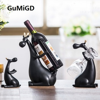 North European modern wine rack deer ornaments creative living room decoration Home Furnishing TV cabinet cabinet housewarming g
