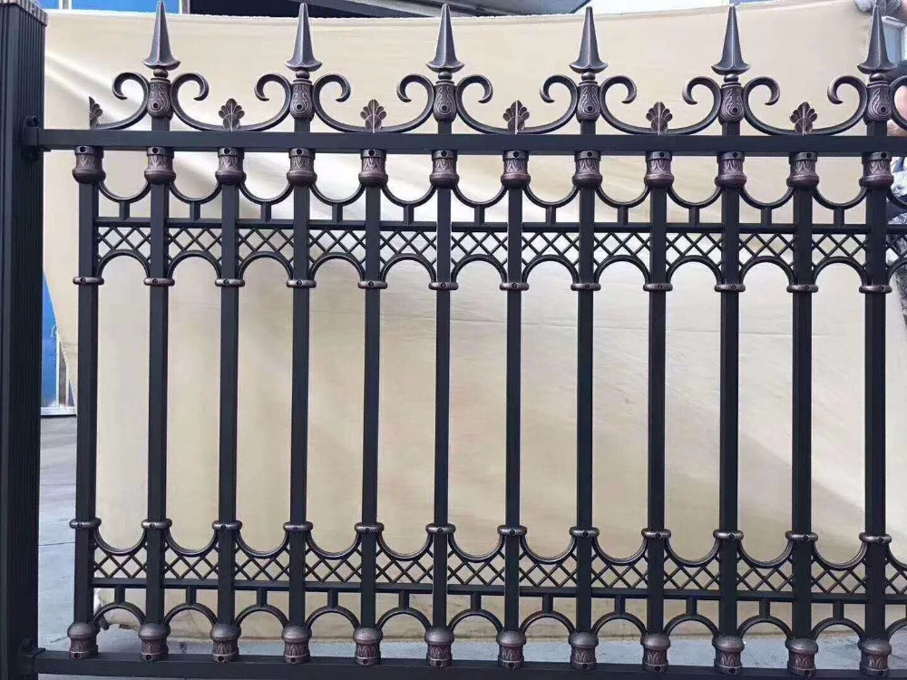 new style powder coated metal aluminum fence designs hc-af13new style powder coated metal aluminum fence designs hc-af13